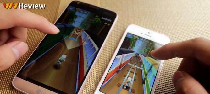 Video speed test/đọ hiệu năng LG G5 và iPhone SE