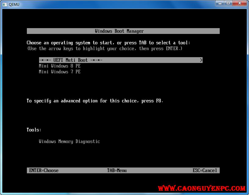 [Qemu Boot Tester]  Công cụ Test boot cực kỳ nhỏ gọn và mạnh mẽ – UEFI và Legacy