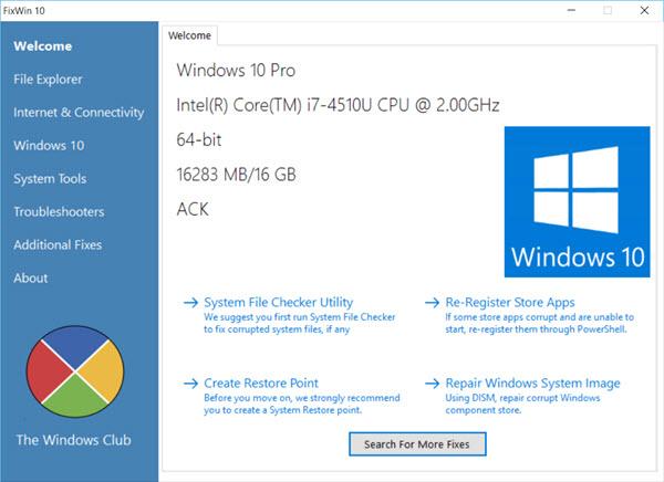 [Windows 10] Sửa các lỗi phổ biến trên Windows 10 chỉ với 1 cú click chuột với FixWin
