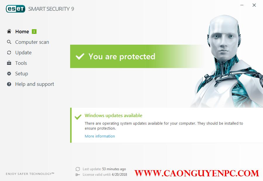 [Chia sẻ] Tặng các bạn key active eSet Smart Security 9 Online