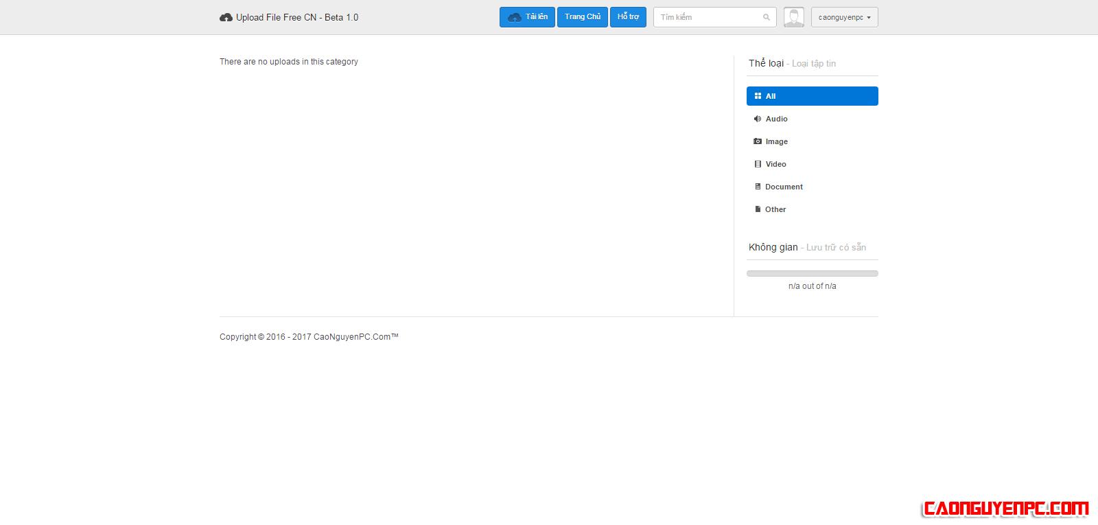 [Thông báo] Ra mắt trang Upload dữ liệu Upload File Free CN – Beta 1.0!