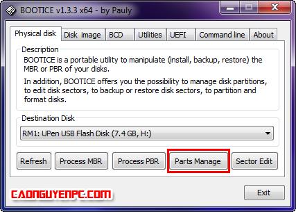 [Thủ Thuật] Hướng dẫn tạo USB BOOT chuẩn UEFI windows 8PE cứu hộ với phân vùng ẩn