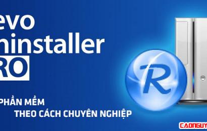 Revo Uninstaller Pro 3.0.8 Full Crack – Phần mềm gỡ bỏ ứng dụng ưu việt