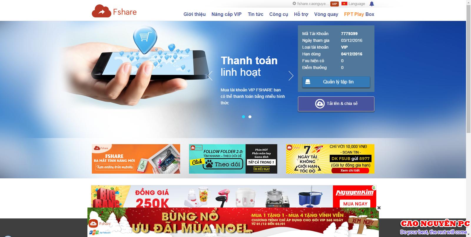 Chia sẻ Fshare Vip miễn phí